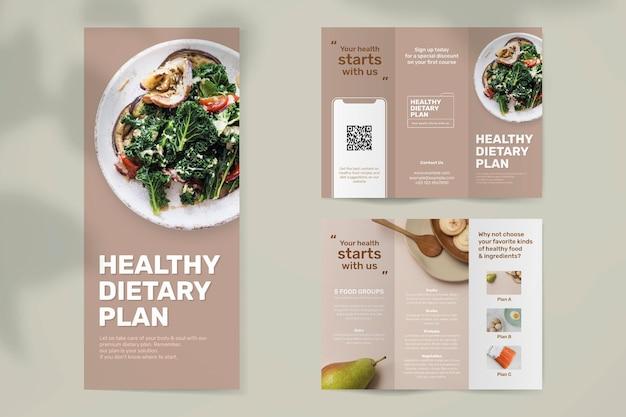 Modelo de folheto de programa dietético psd
