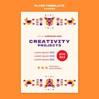 Modelo de folheto de projetos de criatividade