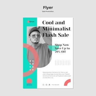Modelo de folheto de promoção de venda