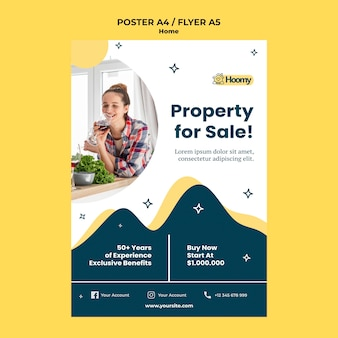 Modelo de folheto de propriedade à venda
