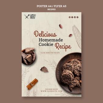 Modelo de folheto de receita de biscoito caseiro delicioso
