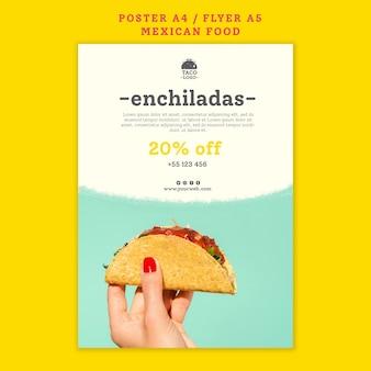 Modelo de folheto de restaurante mexicano