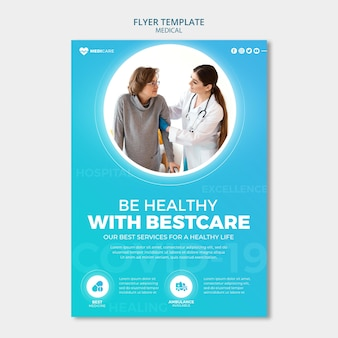 Modelo de folheto de saúde médica