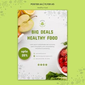Modelo de folheto de segurança alimentar