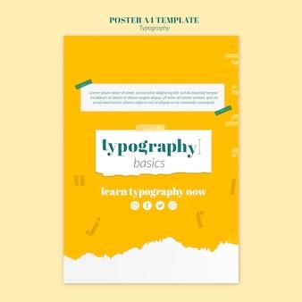 Modelo de folheto de serviço de tipografia