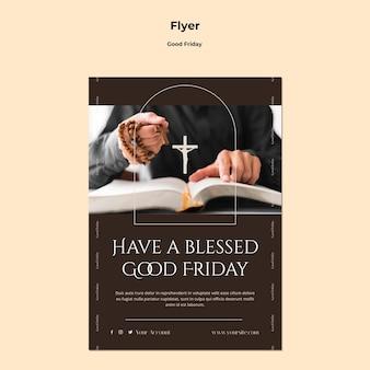 Modelo de folheto de sexta-feira santa