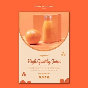 Modelo de folheto de suco de laranja