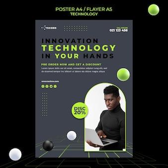 Modelo de folheto de tecnologia