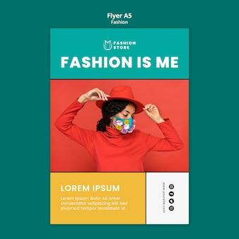 Modelo de folheto de tendências de moda