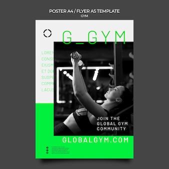 Modelo de folheto de treinamento de ginástica