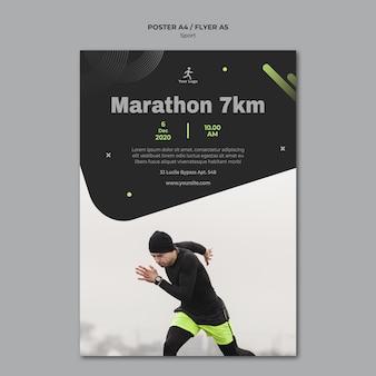Modelo de folheto de treinamento físico