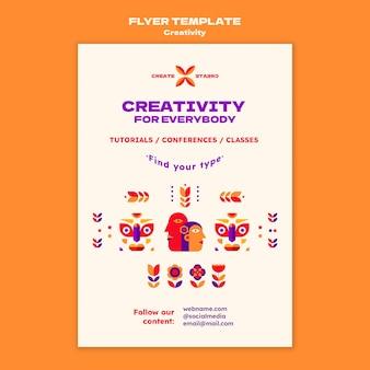 Modelo de folheto de tutoriais de criatividade