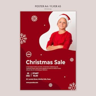 Modelo de folheto de venda de natal Psd grátis