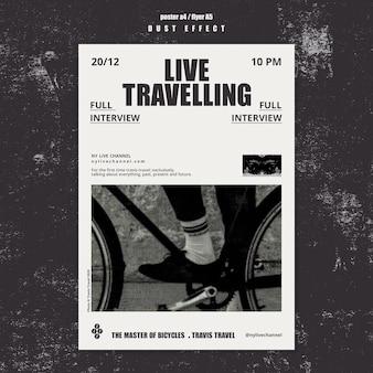 Modelo de folheto de viagem ao vivo