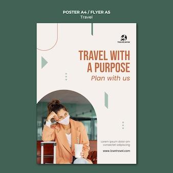 Modelo de folheto de viagem com propósito Psd grátis