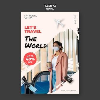 Modelo de folheto de viagens