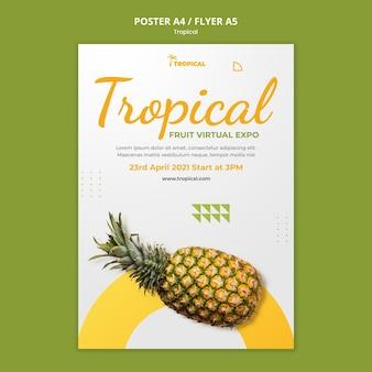 Modelo de folheto de vibrações tropicais