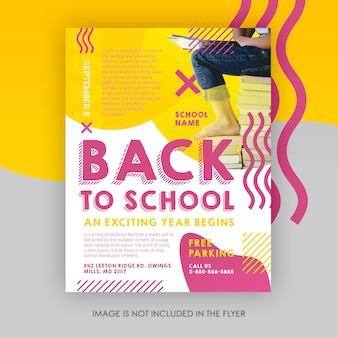 Modelo de folheto - de volta à escola