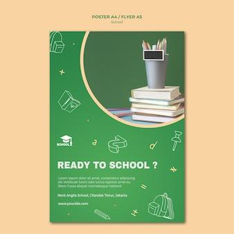 Modelo de folheto de volta às aulas