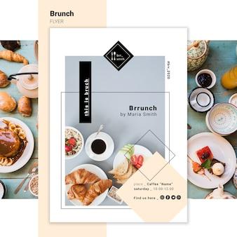 Modelo de folheto - delicioso brunch