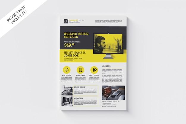 Modelo de folheto - desenvolvimento de promoção da web a4