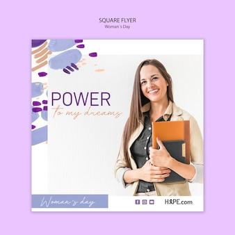 Modelo de folheto - dia das mulheres