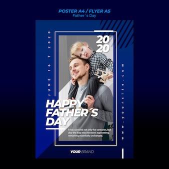 Modelo de folheto - dia dos pais com pai e filho