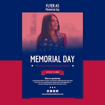 Modelo de folheto - dia memorial