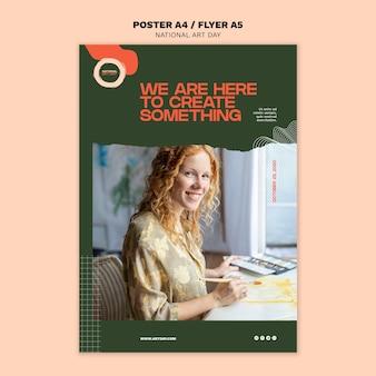 Modelo de folheto - dia nacional da arte