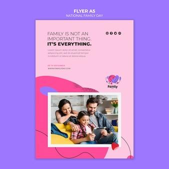 Modelo de folheto - dia nacional da família