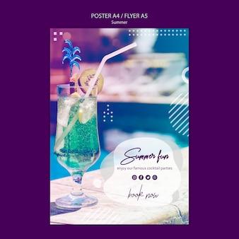Modelo de folheto divertido verão com foto