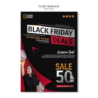 Modelo de folheto do conceito black friday