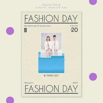 Modelo de folheto do dia da moda