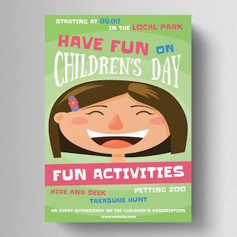 Modelo de folheto do dia das crianças
