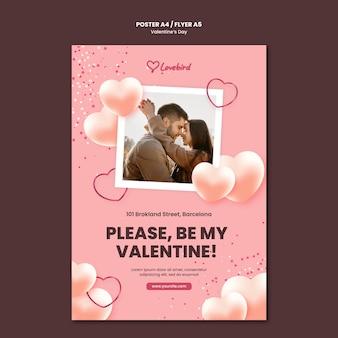 Modelo de folheto do dia dos namorados com foto