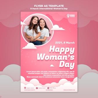 Modelo de folheto do dia internacional da mulher
