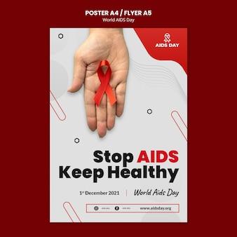 Modelo de folheto do dia mundial da aids