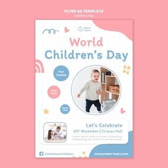Modelo de folheto do dia mundial da criança