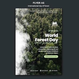 Modelo de folheto do dia mundial da floresta