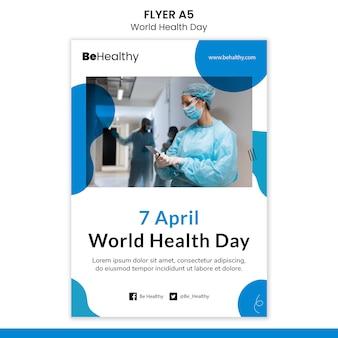 Modelo de folheto do dia mundial da saúde Psd grátis