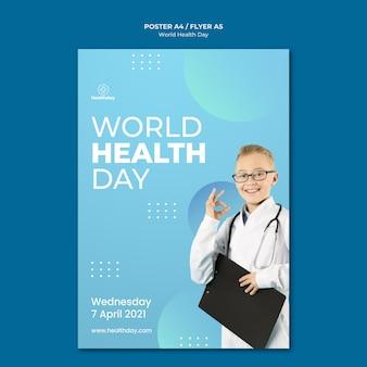 Modelo de folheto do dia mundial da saúde