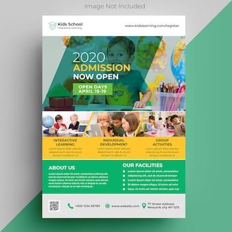 Modelo de folheto - educação infantil
