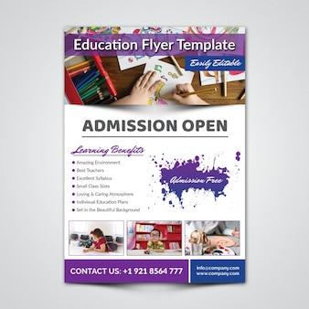 Modelo de folheto - educação