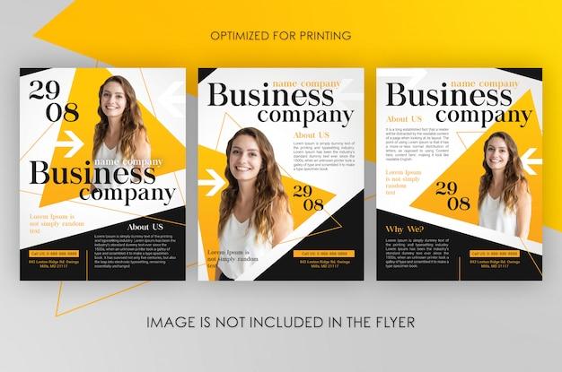 Modelo de folheto - empresa de negócios
