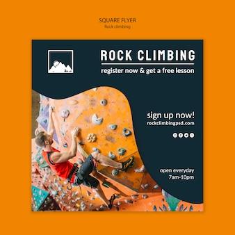 Modelo de folheto - escalada em rocha