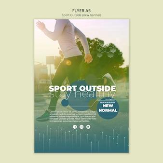 Modelo de folheto - esporte fora