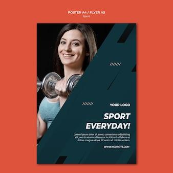 Modelo de folheto - esporte