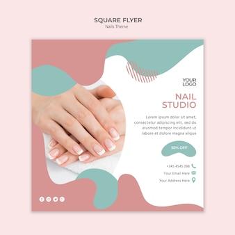Modelo de folheto - estúdio de unhas