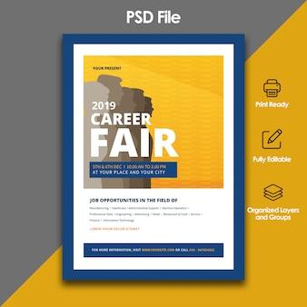 Modelo de folheto - evento de emprego justo