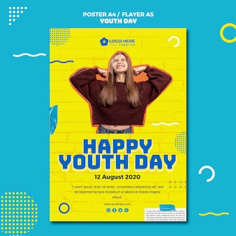 Modelo de folheto - evento do dia da juventude